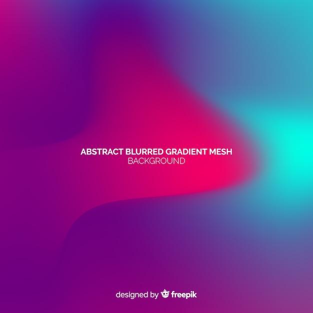 Fondo abstracto de malla borrosa gradient Vector Premium