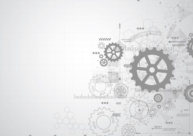 Fondo abstracto mecanismo de rueda de engranaje Vector Premium