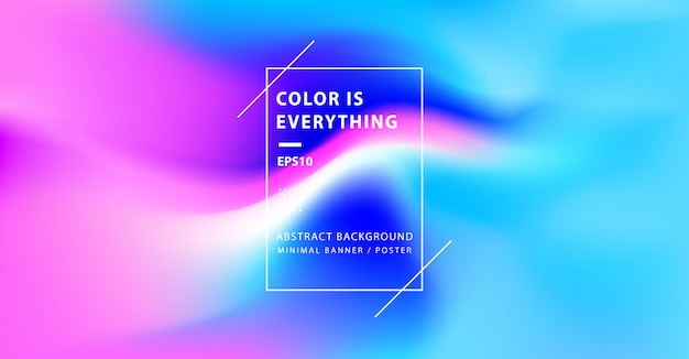 Fondo abstracto mínimo colorido Vector Premium