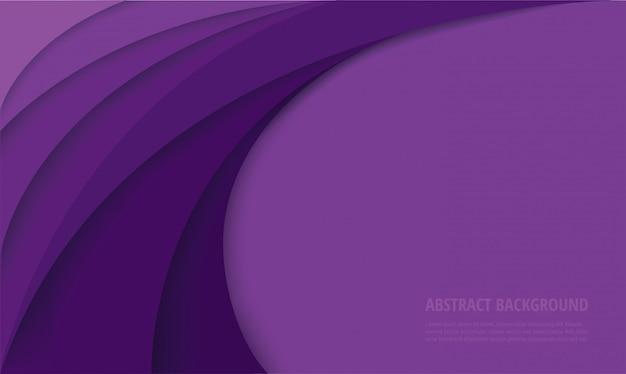 Fondo abstracto moderno curva púrpura Vector Premium