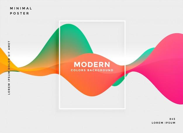 Fondo abstracto moderno gradiente fluido vector gratuito
