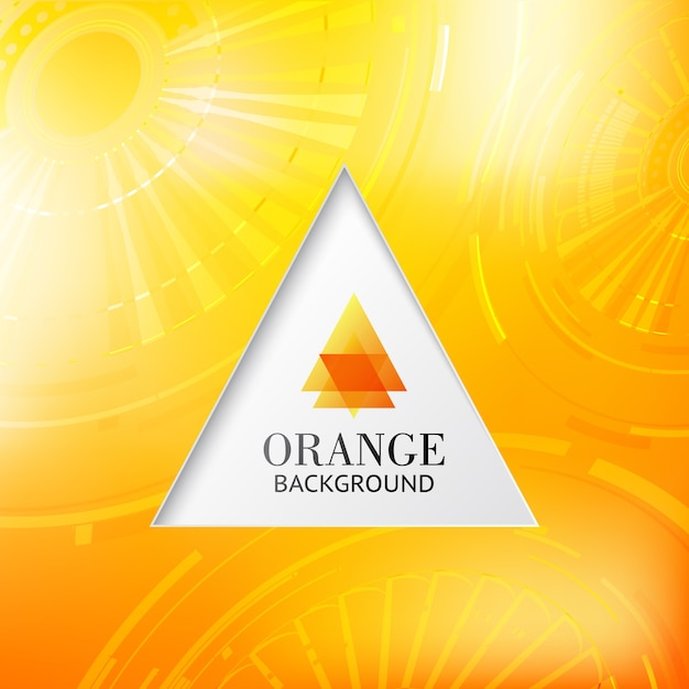 Fondo abstracto naranja tiangle. vector gratuito