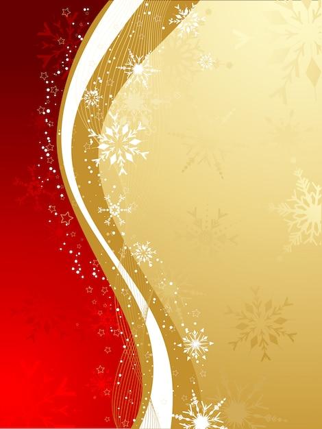 Fondo abstracto de navidad en rojo y dorado vector gratuito