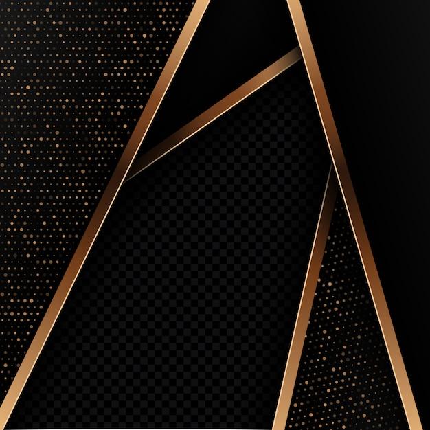 Fondo abstracto negro y oro vector gratuito