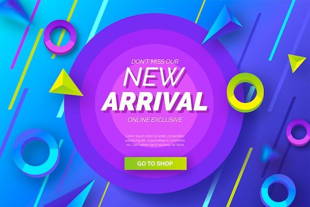 Fondo abstracto de nueva llegada con formas modernas vector gratuito