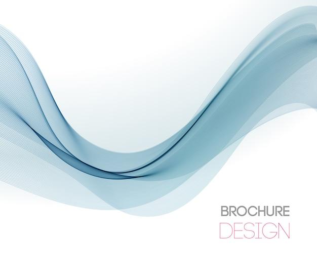 Fondo abstracto con onda de color suave Vector Premium