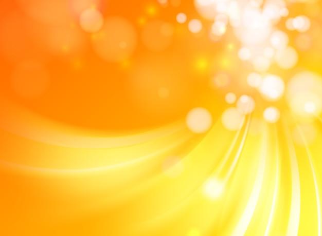 Fondo abstracto ondas naranja con líneas suaves vector gratuito