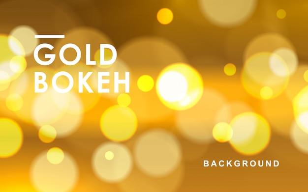 Fondo abstracto de oro bokeh Vector Premium