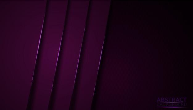Fondo abstracto oscuro con capas superpuestas de color púrpura. Vector Premium