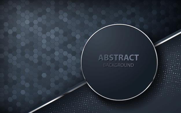 Fondo abstracto oscuro con capas superpuestas Vector Premium