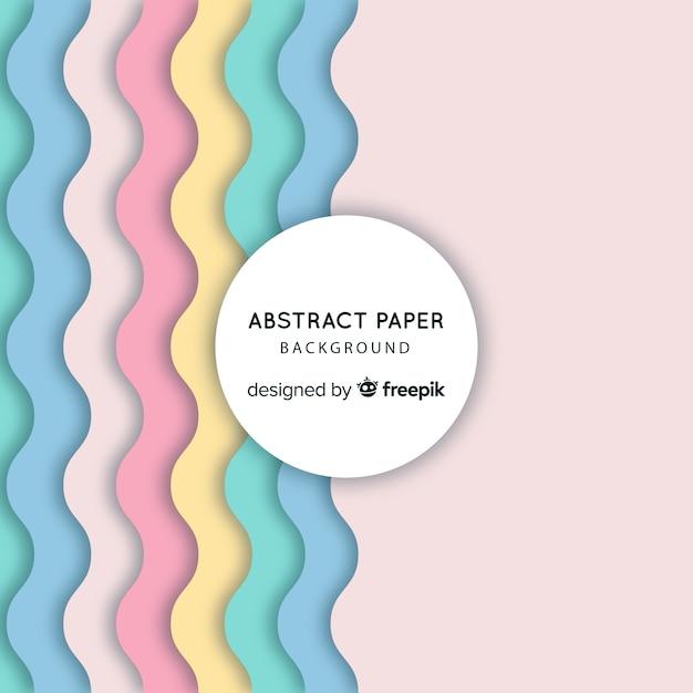 Fondo abstracto de papel Vector Premium
