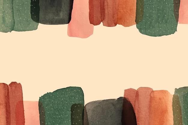 Fondo abstracto pintado acuarela vector gratuito