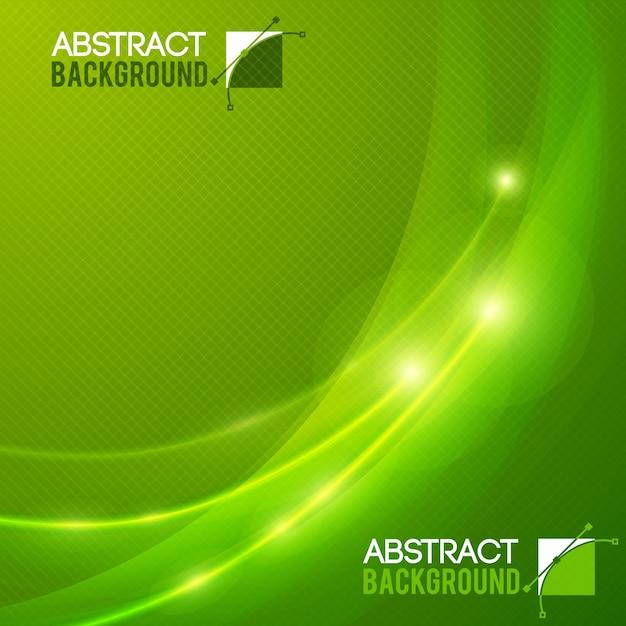 Fondo abstracto plano de color verde con efectos de luz ilustración vectorial vector gratuito