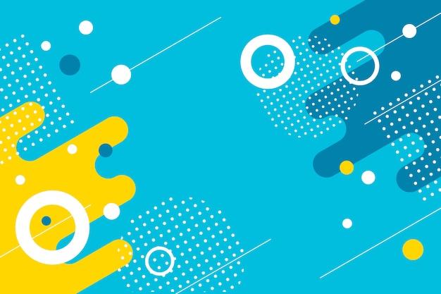 Fondo abstracto plano colorido formas geométricas Vector Premium
