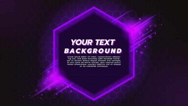Fondo abstracto con plantilla hexagonal en púrpura Vector Premium