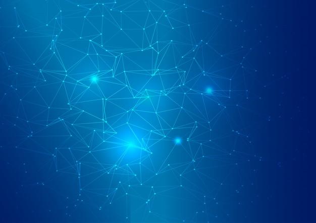 Fondo abstracto bajo poli conexiones vector gratuito