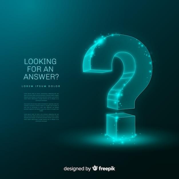 Fondo abstracto pregunta digital vector gratuito