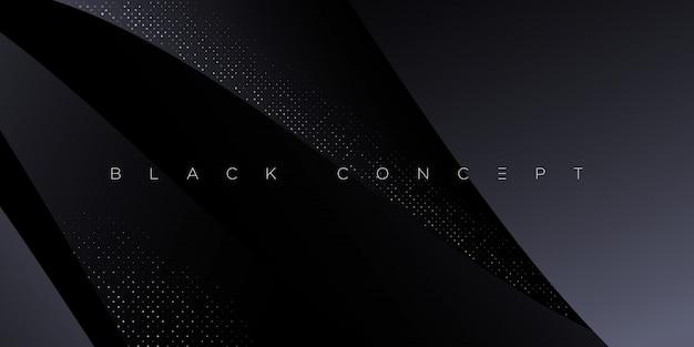 Fondo abstracto premium negro minimalista con elementos geométricos oscuros de lujo. papel tapiz exclusivo para póster, folleto, presentación, sitio web, pancarta, etc. Vector Premium