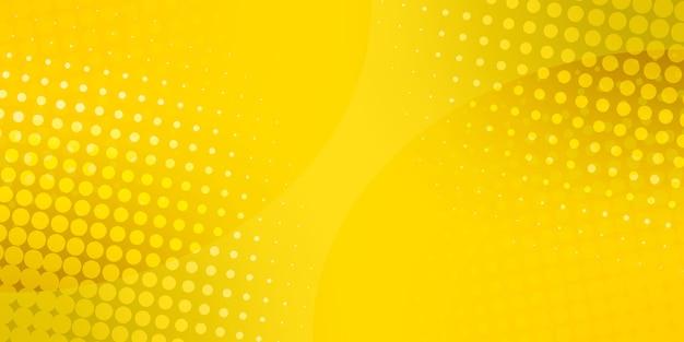 Fondo abstracto de puntos de semitono. ilustración. fondo de puntos amarillos. modelo de semitono Vector Premium