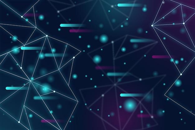 Fondo abstracto realista de partículas vector gratuito