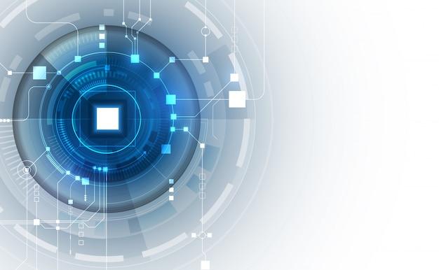 Fondo abstracto de red blockchain de circuito Vector Premium