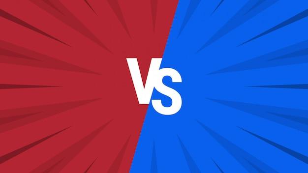 Fondo abstracto rojo y azul versus Vector Premium