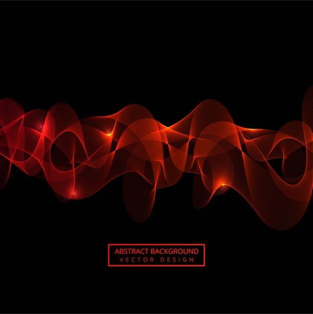 Fondo abstracto rojo de la onda que fluye Vector Premium