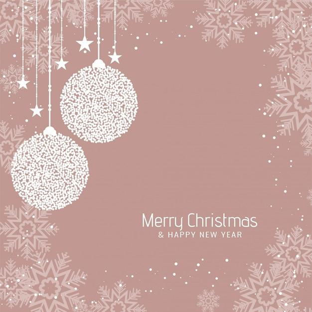 Fondo abstracto de saludo de feliz navidad vector gratuito