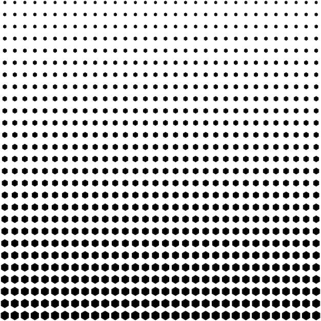 Fondo abstracto de semitonos patrón de forma hexagonal Vector Premium