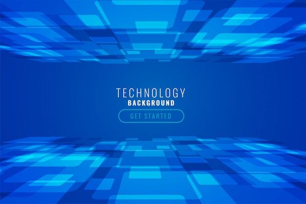 Fondo abstracto de tecnología digital en estilo perspectiva vector gratuito
