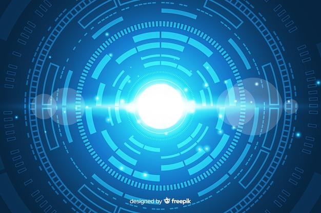 Fondo abstracto de tecnología digital hud vector gratuito