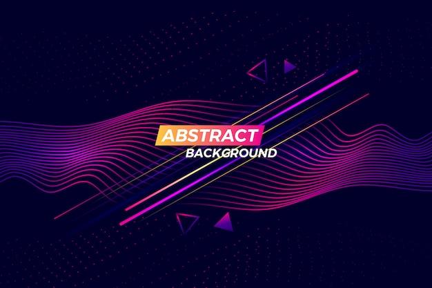 Fondo abstracto de tecnología digital con líneas brillantes Vector Premium
