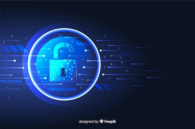 Fondo abstracto de tecnología segura vector gratuito