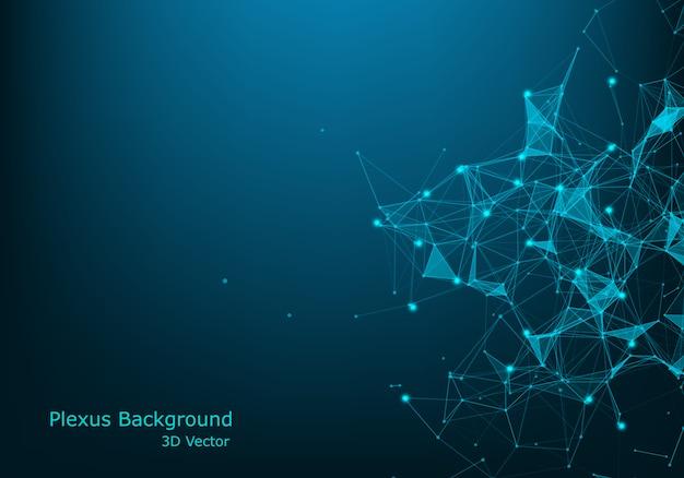 Fondo abstracto de la tecnología. Vector Premium