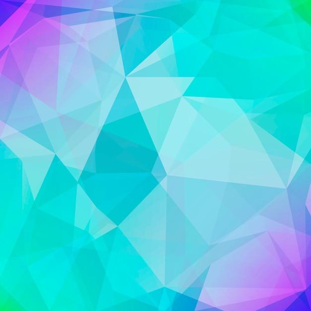 Fondo abstracto triángulo cuadrado. Vector Premium
