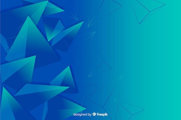 Fondo abstracto tridimensional de formas geométricas vector gratuito