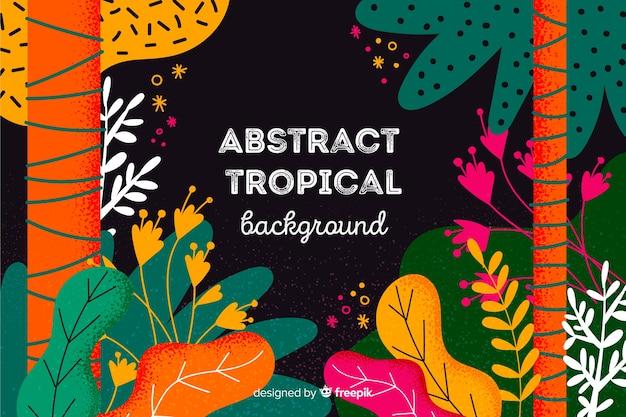 Fondo abstracto tropical hecho a mano vector gratuito