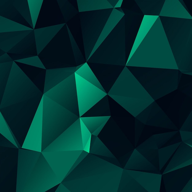 Fondo Abstracto Verde Oscuro Poligonal