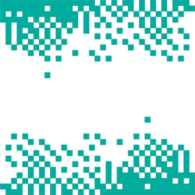 Fondo abstracto verde de píxeles vector gratuito