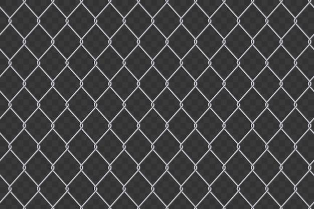 Fondo de acero del metal de la malla de alambre de la cerca de la alambrada. Vector Premium