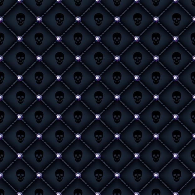 Fondo acolchado negro glam transparente. Vector Premium