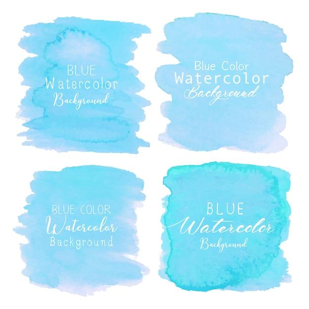 Fondo de acuarela abstracta azul. elemento acuarela para tarjeta. Vector Premium