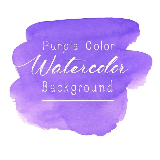 Fondo acuarela abstracta púrpura Vector Premium
