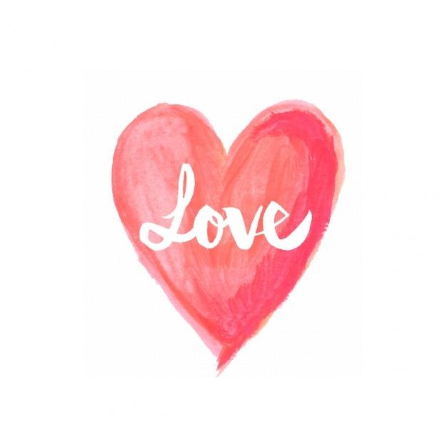Fondo  en acuarela de amor vector gratuito