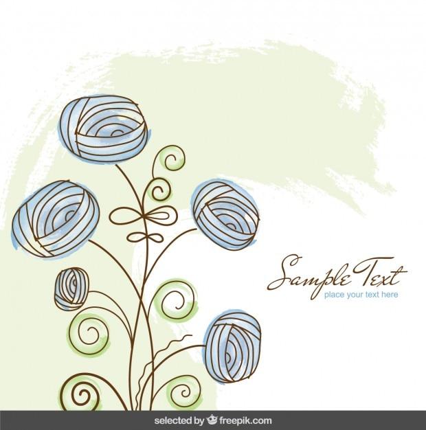 Fondo De Acuarela Con Las Flores Azules Descargar Vectores Gratis