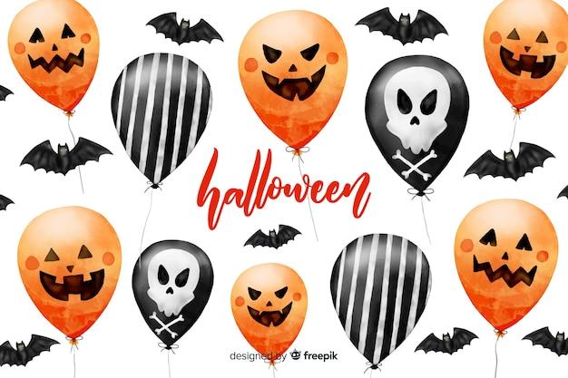 Fondo acuarela de halloween vector gratuito