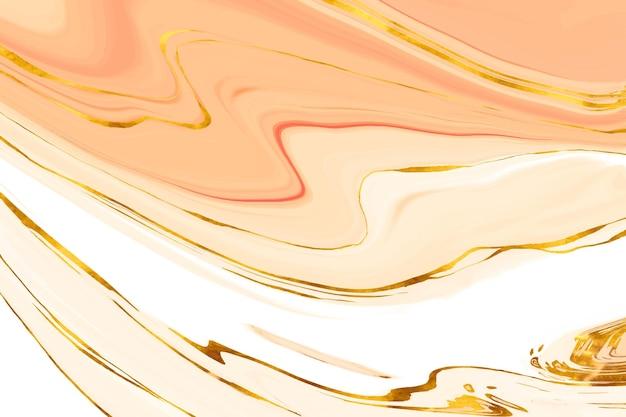 Fondo de acuarela con lámina dorada vector gratuito