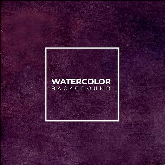 Fondo acuarela púrpura oscuro abstracto. el color que salpica en el papel. Vector Premium