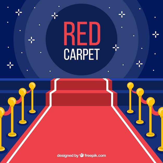 Fondo de alfombra roja en estilo plano vector gratuito