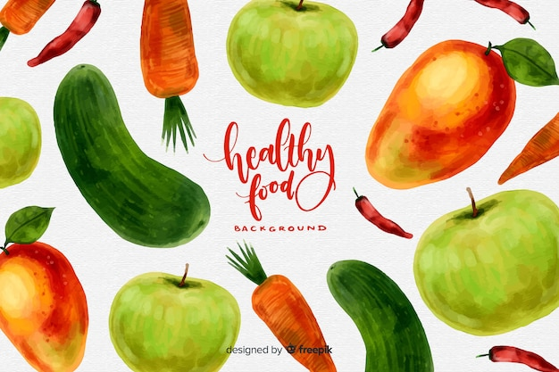 Fondo de alimentos saludables vector gratuito